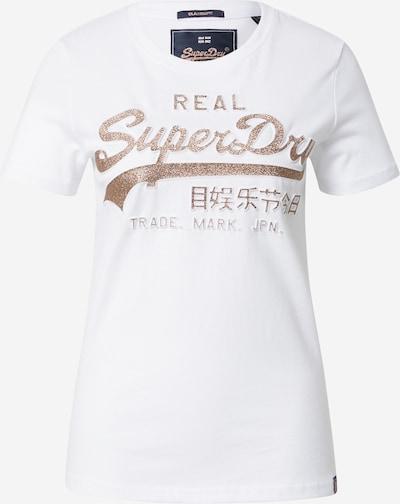 Superdry Majica | rožnato zlata / bela barva, Prikaz izdelka