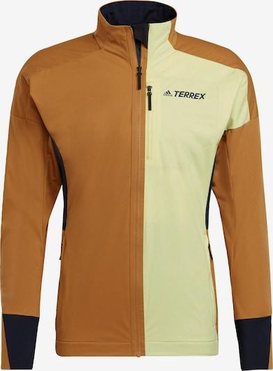 adidas Terrex Sportjacke in braun / gelb, Produktansicht