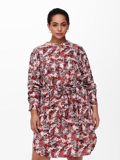 Rochie tip bluză 'BANDI' ONLY Carmakoma pe azuriu / roșu / negru / alb, Vizualizare model