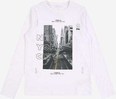 NAME IT Shirt 'RAIS' in de kleur Grijs / Antraciet / Wit, Productweergave
