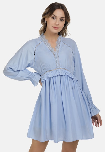 DreiMaster Maritim Sommerkleid in taubenblau, Modelansicht
