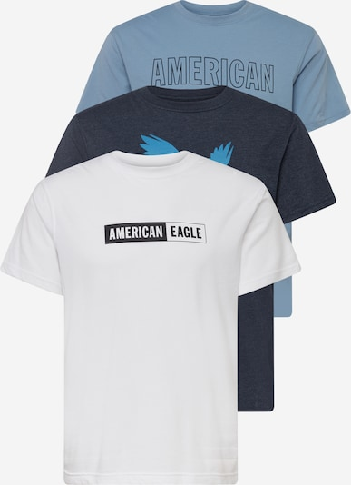 tengerészkék / türkiz / füstkék / fekete / fehér American Eagle Póló, Termék nézet