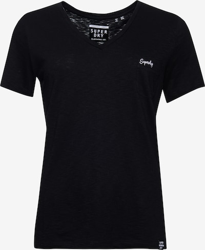 Superdry T-Shirt in schwarz / weiß, Produktansicht