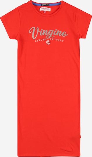 VINGINO Рокля в сребърно сиво / червено / бяло, Преглед на продукта
