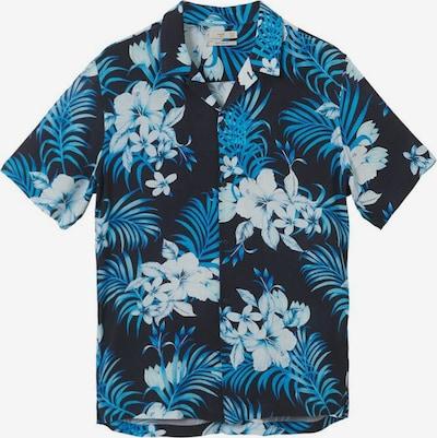 MANGO MAN Hemd in blau / navy / hellblau, Produktansicht