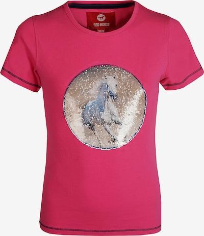 RED HORSE T-Shirt 'Caliber' in beige / magenta / weiß, Produktansicht