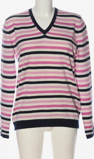 ALDO Cashmerepullover in XL in pink / schwarz / weiß, Produktansicht