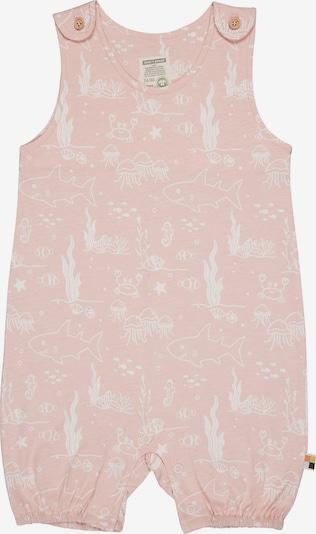 loud + proud Strampler in rosa / weiß, Produktansicht