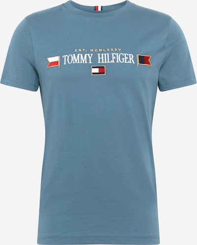 Tricou TOMMY HILFIGER pe albastru pastel / alb, Vizualizare produs