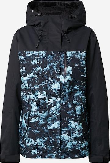 ROXY Outdoorjacke 'JETTY' in taubenblau / hellblau / schwarz, Produktansicht