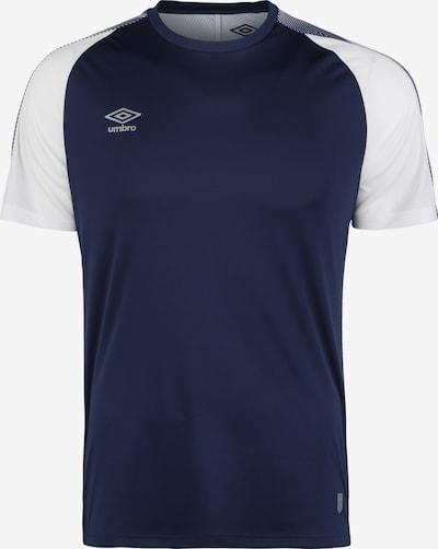 UMBRO Functioneel shirt in de kleur Kobaltblauw / Wit, Productweergave