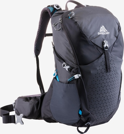 GREGORY Sports Backpack 'ZULU 30' in Anthracite / White, Item view