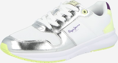 Sneaker low Pepe Jeans pe galben neon / argintiu / alb, Vizualizare produs