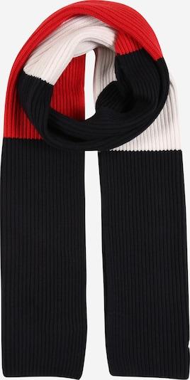 TOMMY HILFIGER Schal 'PIMA' in rot / schwarz / weiß, Produktansicht