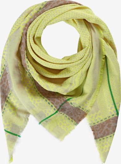 CODELLO Tuch in beige / braun / gelb / hellgrün, Produktansicht