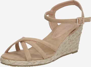 Sandales à lanières 'Kaja' ABOUT YOU en beige