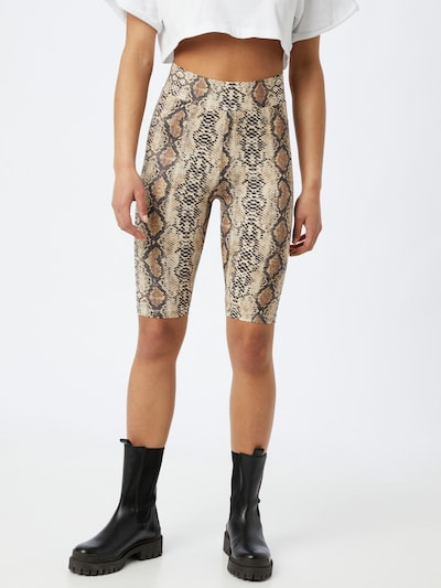 Noisy may Pantalon 'PARLA' en beige / marron / noir, Vue avec modèle