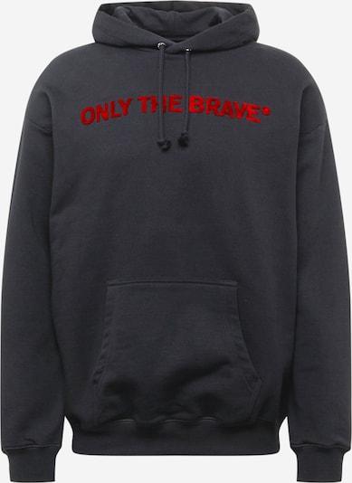 DIESEL Sweatshirt 'S-UMMERIB-E2' in feuerrot / schwarz / weiß, Produktansicht