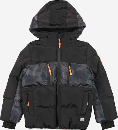 Cars Jeans Winterjas 'FRASH' in de kleur Rookgrijs / Stone grey / Lichtgrijs / Petrol / Neonoranje / Zwart, Productweergave