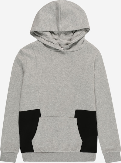 NAME IT Sweat 'Faxei' en gris chiné / noir, Vue avec produit