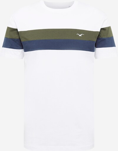 Cleptomanicx T-Shirt 'Doust' en bleu / vert foncé / blanc, Vue avec produit