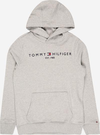 TOMMY HILFIGER Sweat en bleu nuit / gris chiné / rouge clair / blanc, Vue avec produit