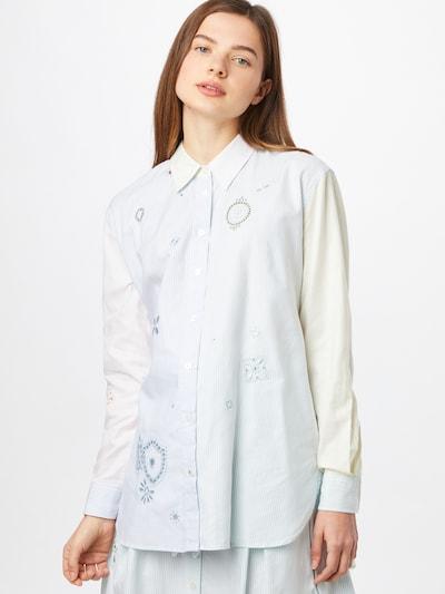 TOMMY HILFIGER Bluse in hellblau / pastellgelb / pastellpink / weiß, Modelansicht