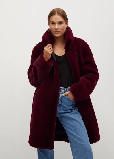 MANGO Přechodný kabát 'Chillyn' - vínově červená, Model/ka