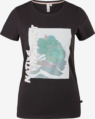 Q/S by s.Oliver T-Shirt in grün / schwarz / weiß, Produktansicht