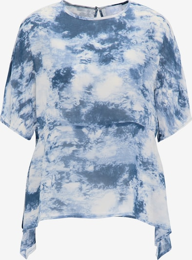 usha BLUE LABEL Bluse in blau / weiß, Produktansicht