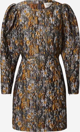 SECOND FEMALE Kleid 'Fonda' in beige / dunkelgrün / orange, Produktansicht