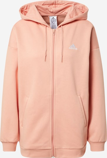 ADIDAS PERFORMANCE Sports sweat jacket in Pastel orange / White, Item view