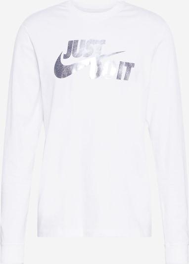 Nike Sportswear Sweatshirt in violettblau / weiß, Produktansicht