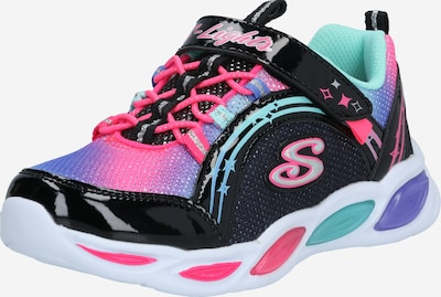 SKECHERS Sneakers 'Shimmer Beams' in hellblau / lila / schwarz / silber, Produktansicht