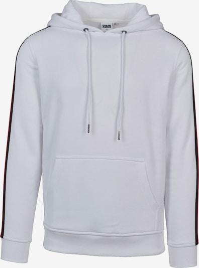Urban Classics Sweat-shirt en rouge feu / noir / blanc, Vue avec produit