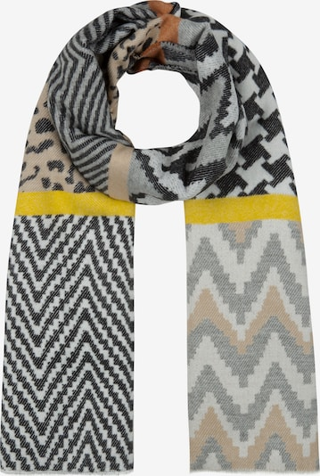 CODELLO Écharpe 'Nordic Style' en gris / orange, Vue avec produit