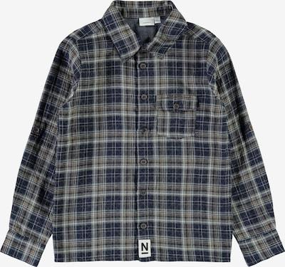 NAME IT Overhemd 'Lasem' in de kleur Donkerblauw / Grijs / Greige, Productweergave