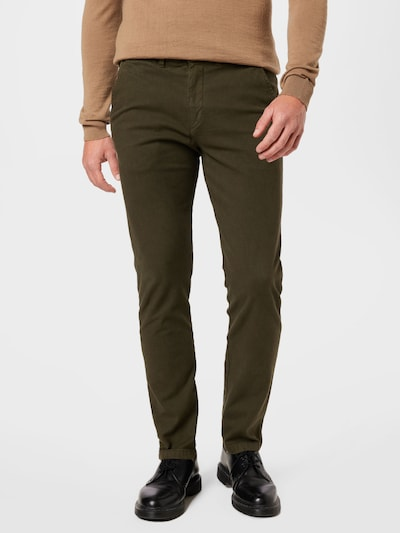 SELECTED HOMME Lærredsbukser i mørkegrøn, Modelvisning