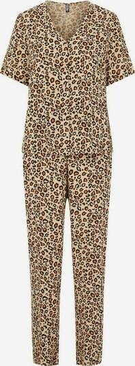 PIECES Pyjama 'Anja' in de kleur Beige / Bruin / Cognac, Productweergave
