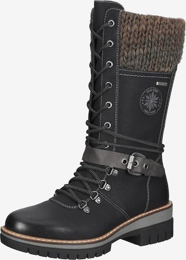 Bama Bottes à lacets en gris / vert clair / noir, Vue avec produit