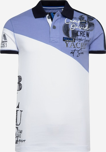 CAMP DAVID Poloshirt in lila / weiß, Produktansicht