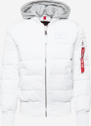 ALPHA INDUSTRIES Winterjas in de kleur Lichtgrijs / Zwart / Wit, Productweergave
