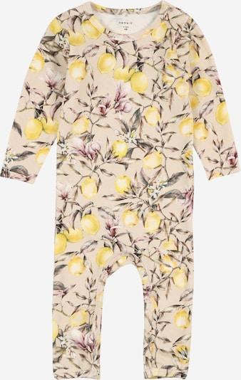 NAME IT Overall 'NBFDarina' in hellbeige / gelb / dunkelgrün / pitaya, Produktansicht
