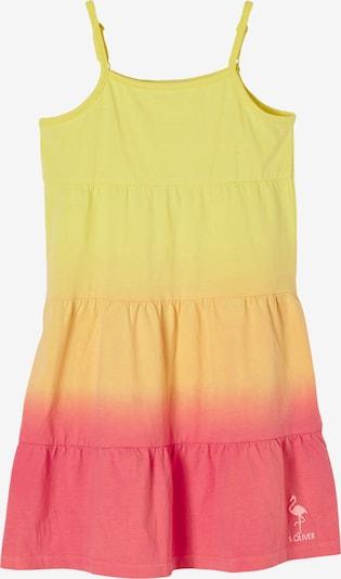 s.Oliver Jurk in de kleur Geel / Lichtoranje / Pink, Productweergave