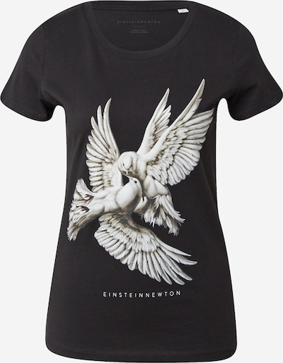 EINSTEIN & NEWTON T-Krekls, krāsa - gaiši pelēks / tumši zaļš / melns, Preces skats