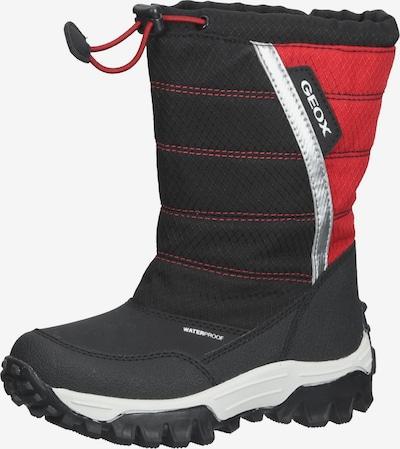 GEOX Stiefel in rot / schwarz / weiß, Produktansicht