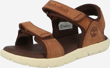 TIMBERLAND Sandale 'Nubble Sandal Lthr 2 Str' in Braun