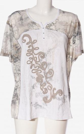 Cosima Strickshirt in 5XL in braun / hellgrau / wollweiß, Produktansicht