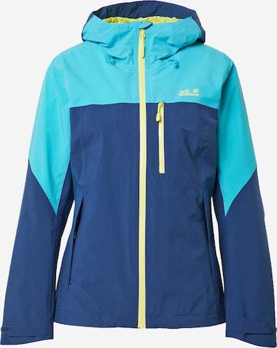 JACK WOLFSKIN Chaqueta de montaña 'GO HIKE' en azul / azul claro / amarillo neón, Vista del producto