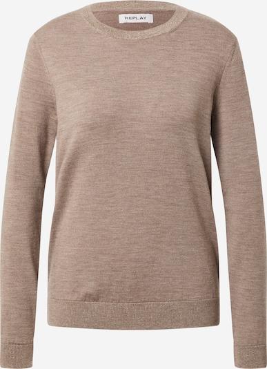 REPLAY Pullover in hellbraun, Produktansicht